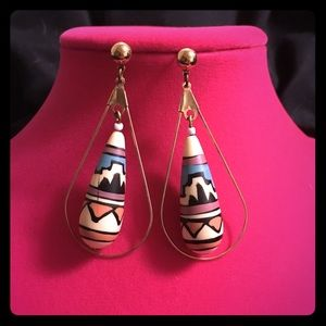 Jewelry - Tribal Geo Aztec Patterned Earrings